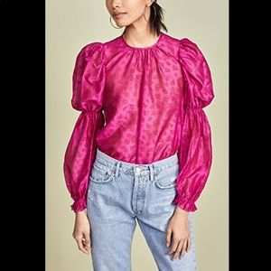 Ulla Johnson Aster fushia blouse